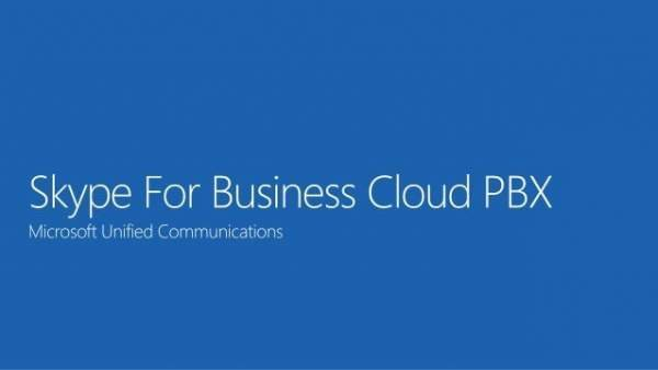 Skype for Business Cloud PBX - Microsoft Unified Communications