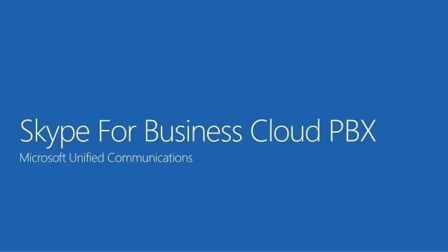 Office 365 - Cloud PBX