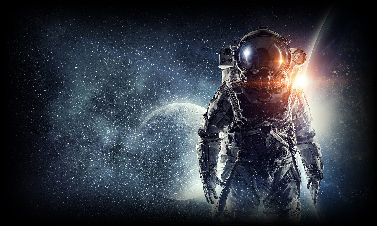 Astronaut facing the viewer