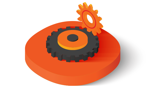 Interlocking gears icon