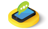 Mobile phone notification chat icon