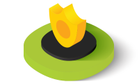 Golden security shield icon