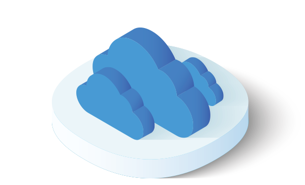 Multiple clouds icon
