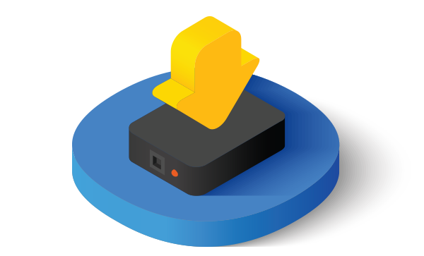 Local storage on a hard-drive icon