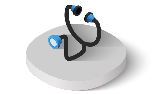 Doctor's stethoscope health icon