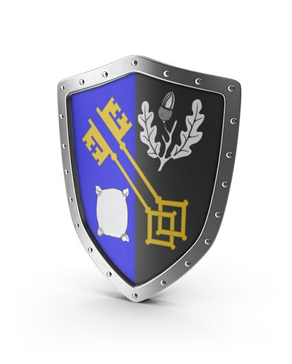 Surrey coat of arms on a shield