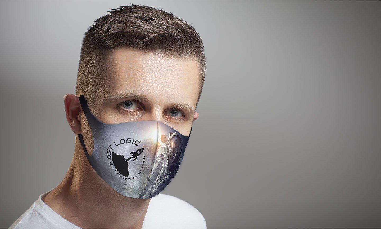 Man wearing COVID mask